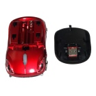 Car Style 2.4GHz Wireless Optical Mouse w/ Receiver - Red + Black
