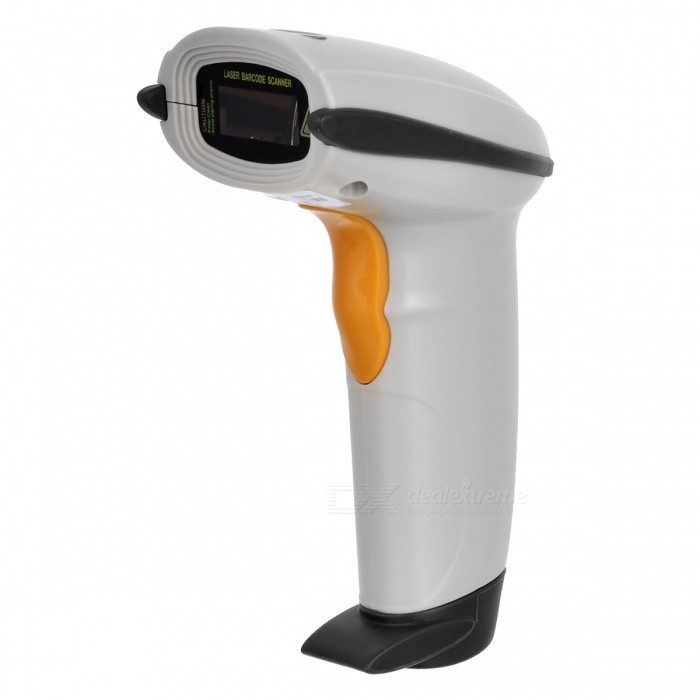 Buy Handheld USB Visible Laser Barcode Scanner with Litecoins with Free Shipping on Gipsybee.com