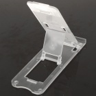 5 Nivel sostenedor del soporte de ABS portable para Ipad 2/iPod Touch 4/iPhone 3g / 4 - Transparente