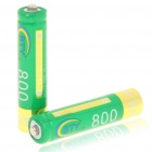 BTY rechargeable 1.2V 800mAh piles ni-mh AAA (paire)