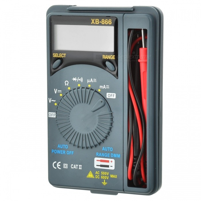 XB-866 Auto Range Digital Multimeter - Gray Green